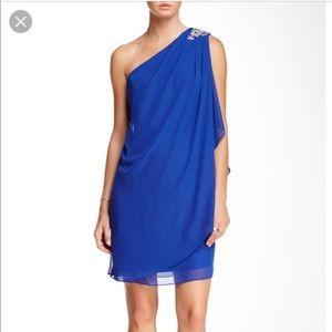 JS Boutique Nordstrom Blue One Shoulder Dress